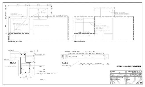 Tekening constructietekening dakkapel